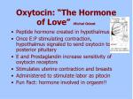 oxytocin the hormone of love michel odent
