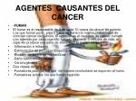 agentes causantes del cancer