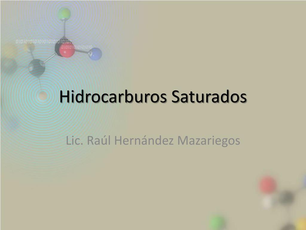 hidrocarburos saturados l.