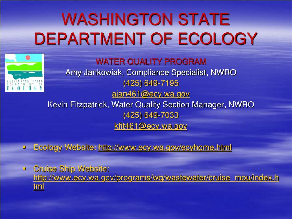 washington state department of ecology l.