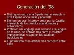 generaci n del 98