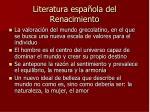 literatura espa ola del renacimiento