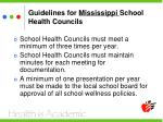 guidelines for mississippi school health councils