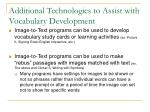 additional technologies to assist with vocabulary development