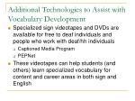 additional technologies to assist with vocabulary development42