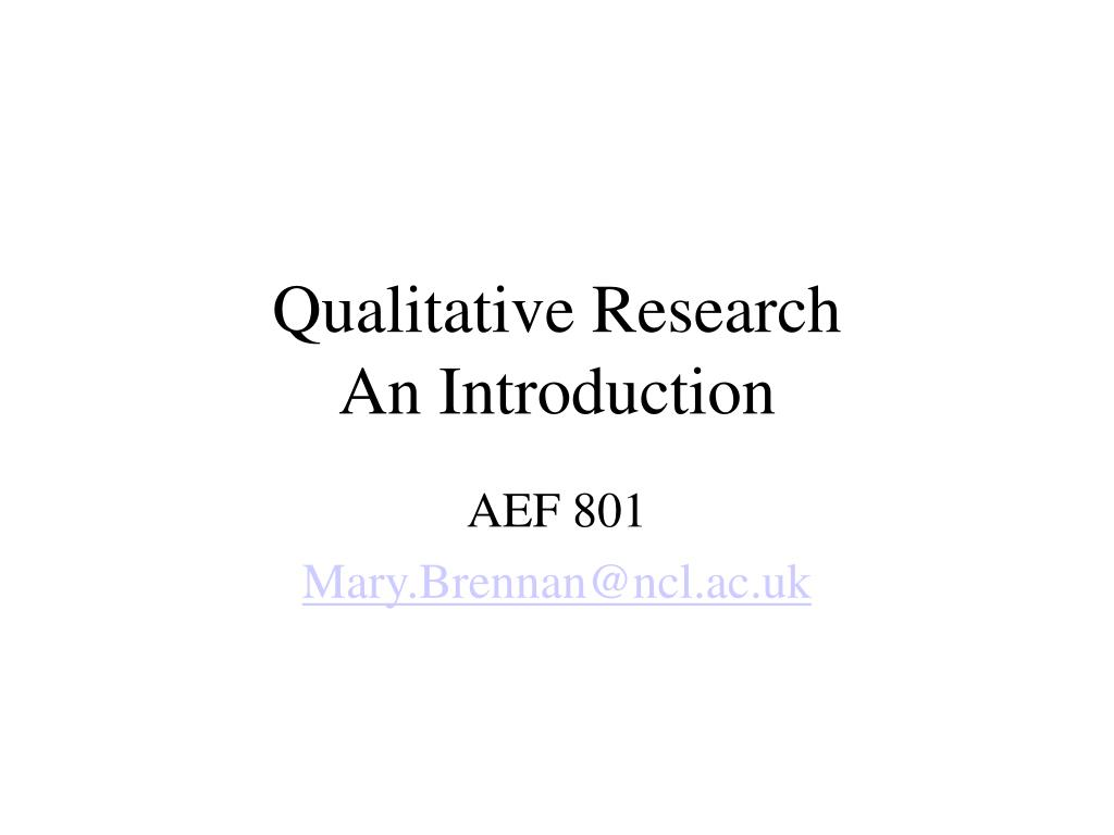 qualitative research an introduction l.