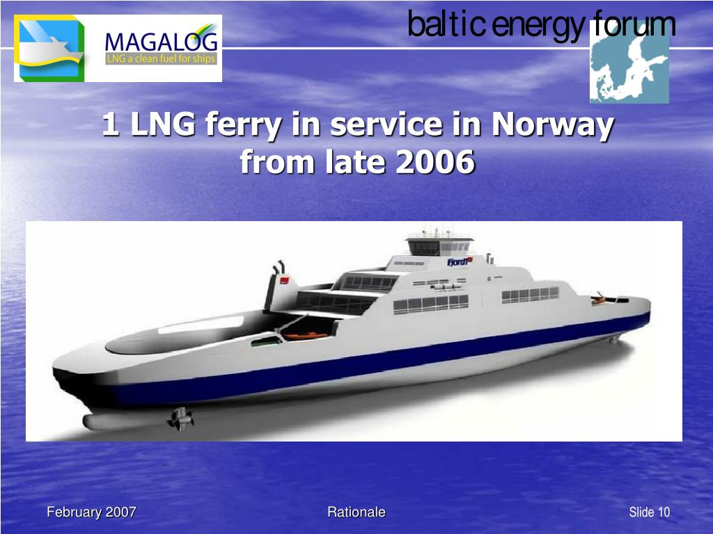 1 LNG ferry in service in Norway