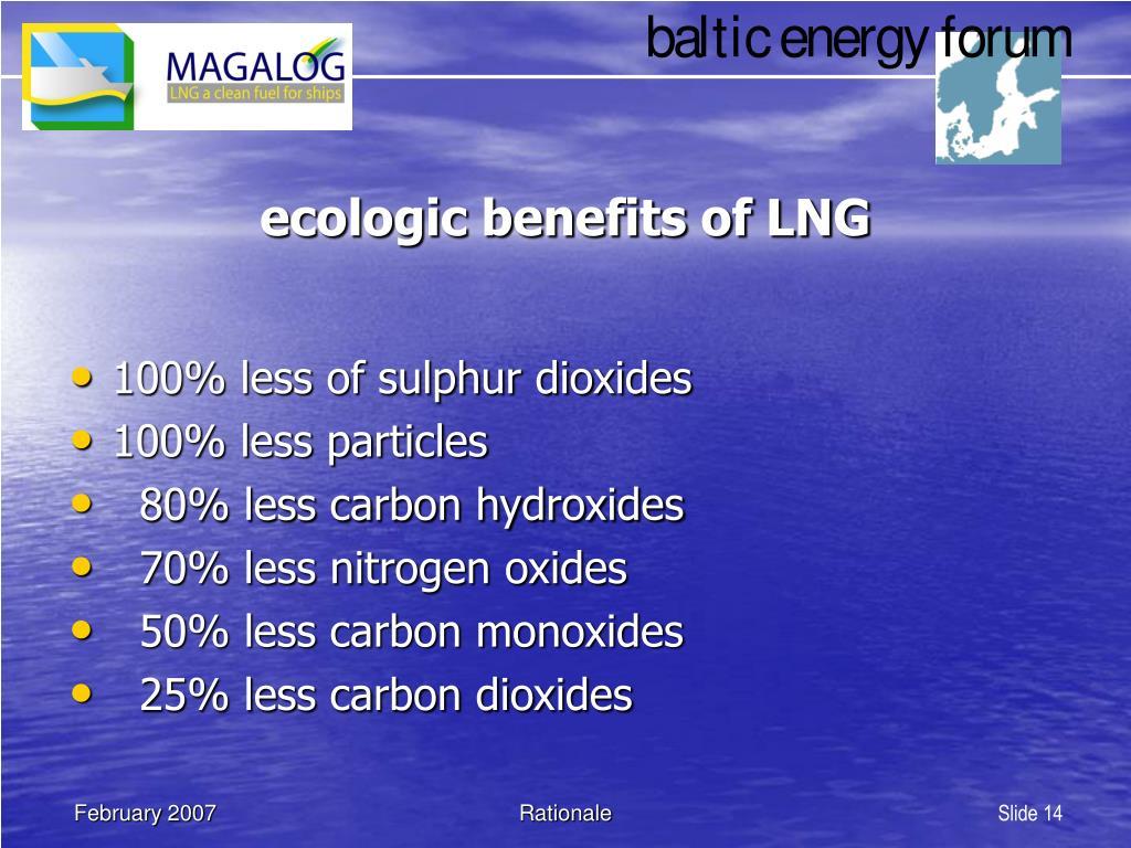 ecologic benefits of LNG