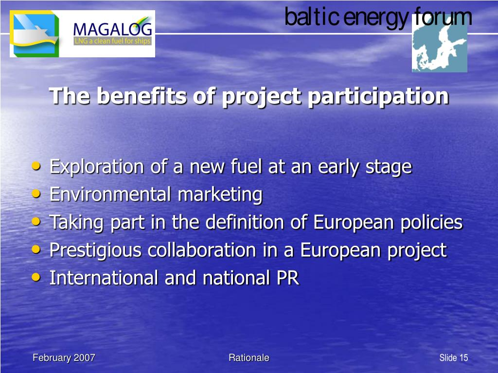 The benefits of project participation