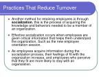 practices that reduce turnover
