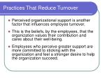 practices that reduce turnover19