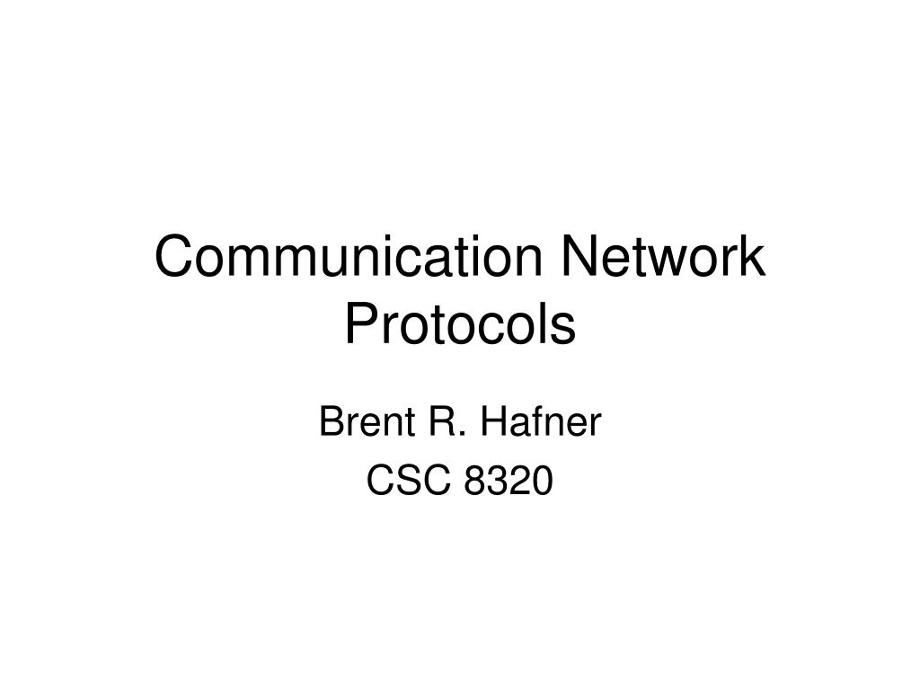 communication network protocols l.