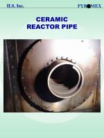 ceramic reactor pipe