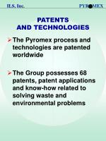 patents and technologies