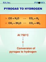 pyrogas to hydrogen