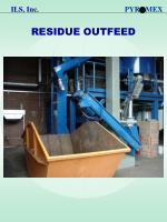 residue outfeed