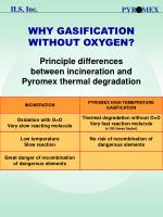 why gasification without oxygen