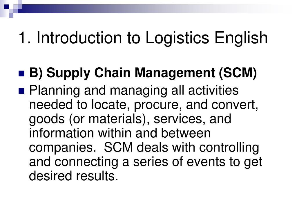 1. Introduction to Logistics English