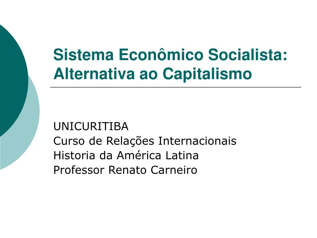sistema econ mico socialista alternativa ao capitalismo l.