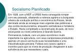 socialismo planificado