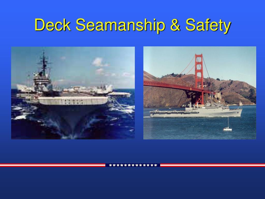 deck seamanship safety l.