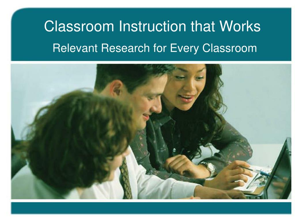 classroom instruction that works l.