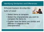 identifying similarities and differences30