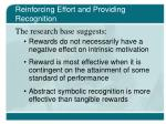 reinforcing effort and providing recognition25