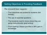 setting objectives providing feedback13