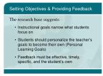 setting objectives providing feedback14