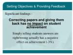 setting objectives providing feedback15
