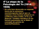 4 la etapa de la psicolog a del yo 1914 1939