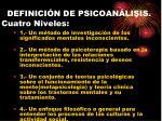 definici n de psicoan lisis cuatro niveles