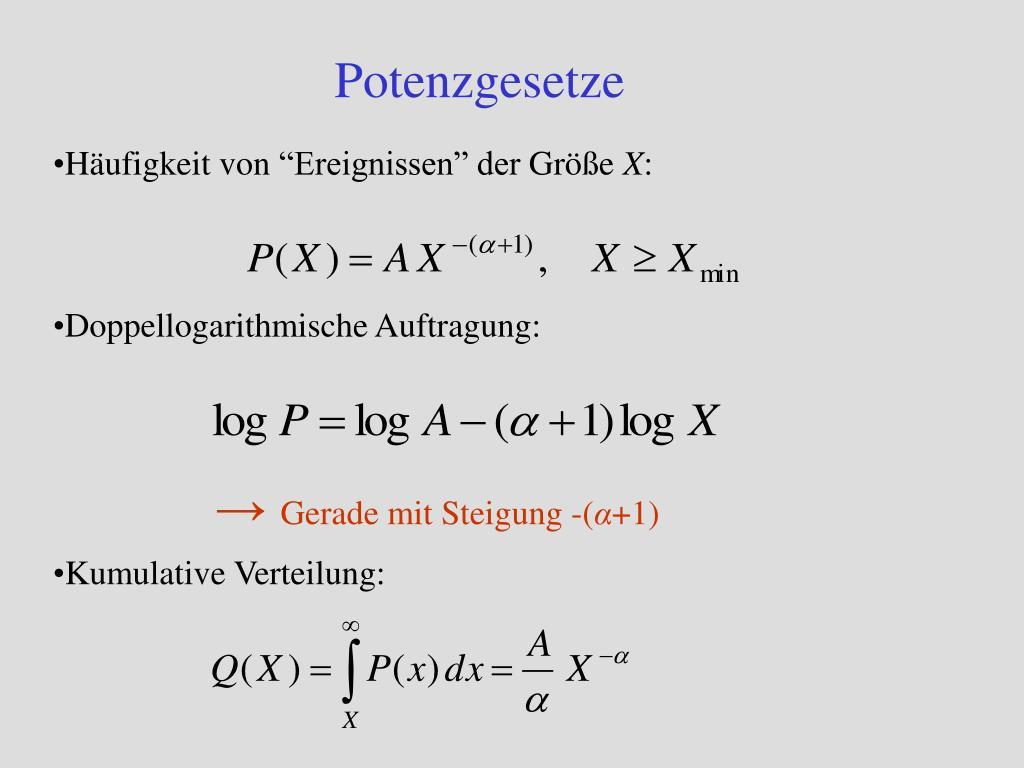 Potenzgesetze