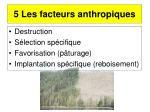 5 les facteurs anthropiques