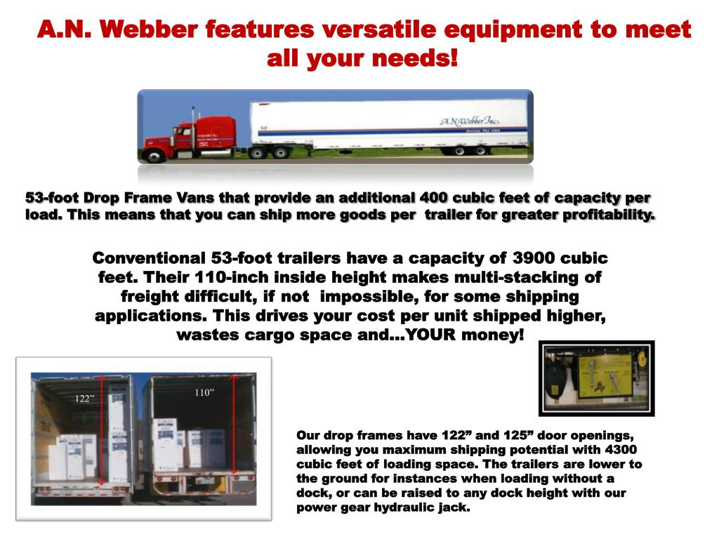 A.N. Webber features versatile equipment to meet all your needs!