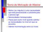 teoria da motiva o de maslow