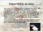 import ncia do voto