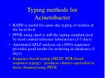 typing methods for acinetobacter20