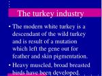 the turkey industry41