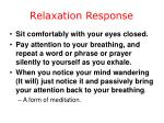 relaxation response31
