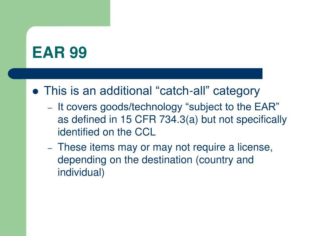 EAR 99