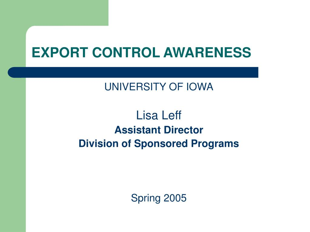 export control awareness l.
