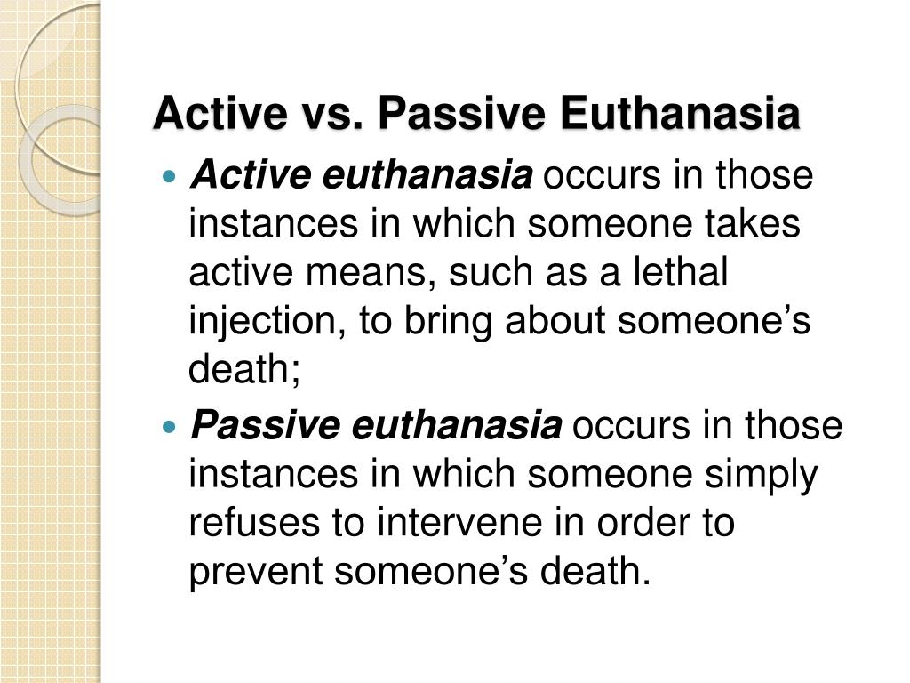 active and passive euthanasia paper