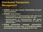 distributed transaction management