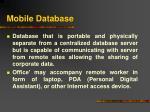 mobile database