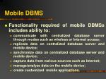 mobile dbms