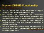 oracle s ddbms functionality