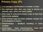 primary copy 2pl
