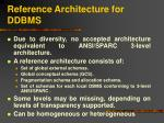 reference architecture for ddbms